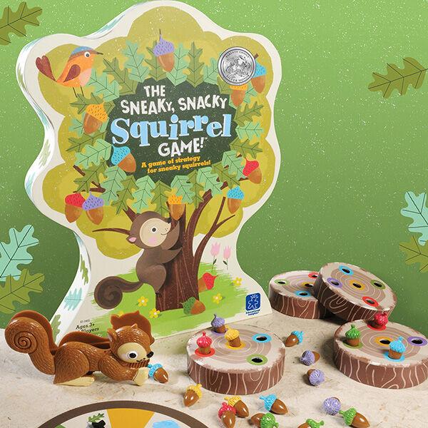 Mókusos, csipeszes ügyességi társasjáték - Sneaky, Snacky Squirrel