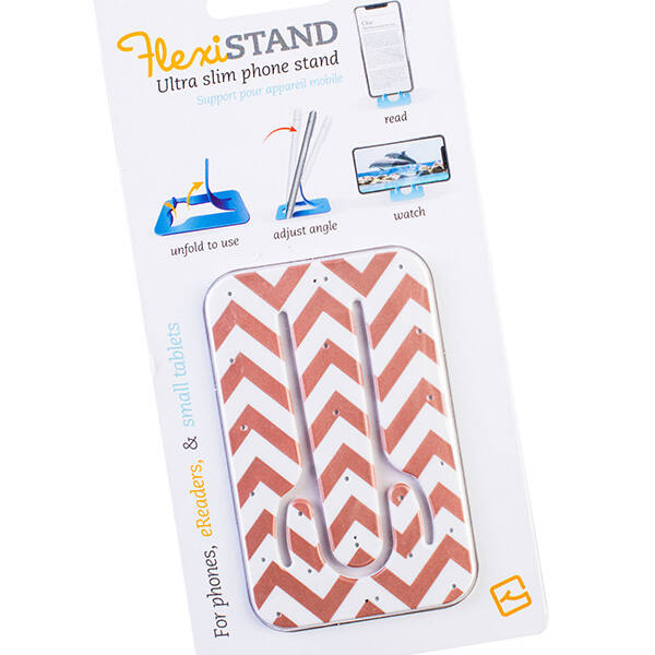 Flexistand Rose Gold Chevron mobiltartó