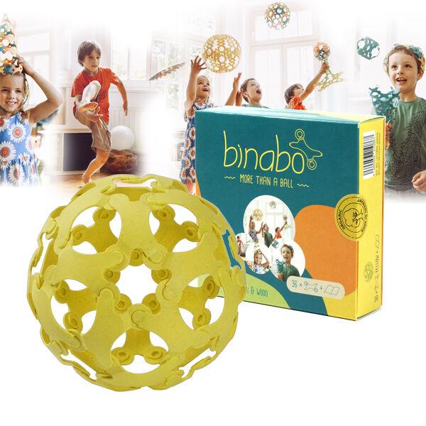 Binabo építőjáték 36 db-os készlet - sárga