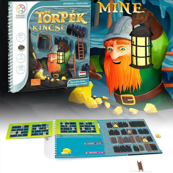 SmartGames Törpék Kincse mágneses logikai játék
