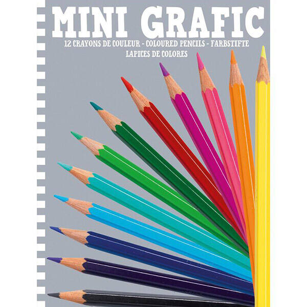 DJECO Színes mini ceruza 12 darabos