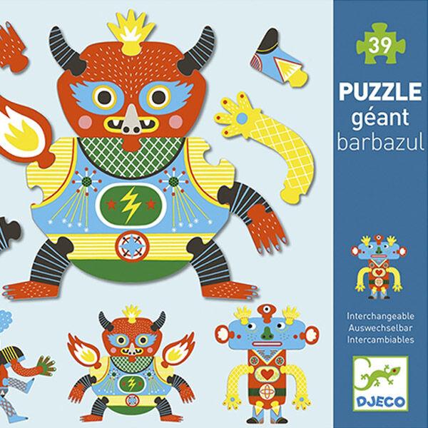 DJECO Óriás kreatív puzzle - Barbazul