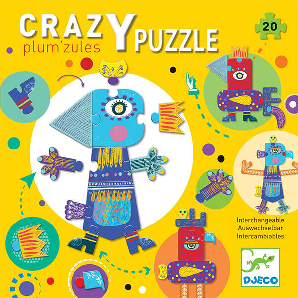 DJECO Óriás kreatív puzzle - Plum'zules