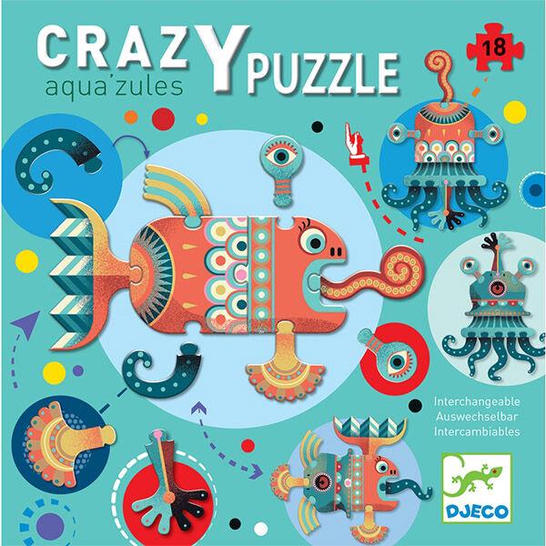 DJECO Óriás kreatív puzzle - Aqua'zules