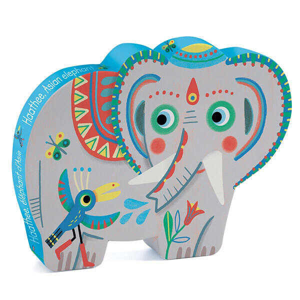 DJECO puzzle (24 db) - Haathee, az indiai elefánt
