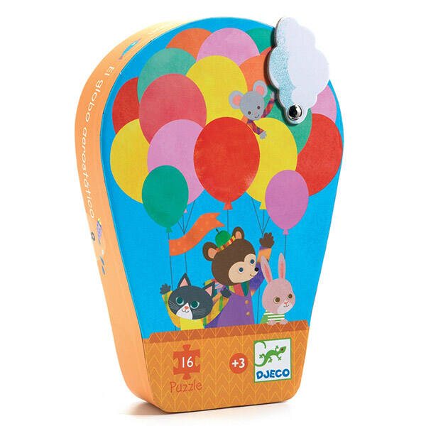 DJECO puzzle (16 db) - Hőlégballon