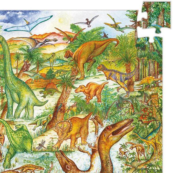 DJECO Megfigyelő puzzle (100 db) - Dinoszauruszok