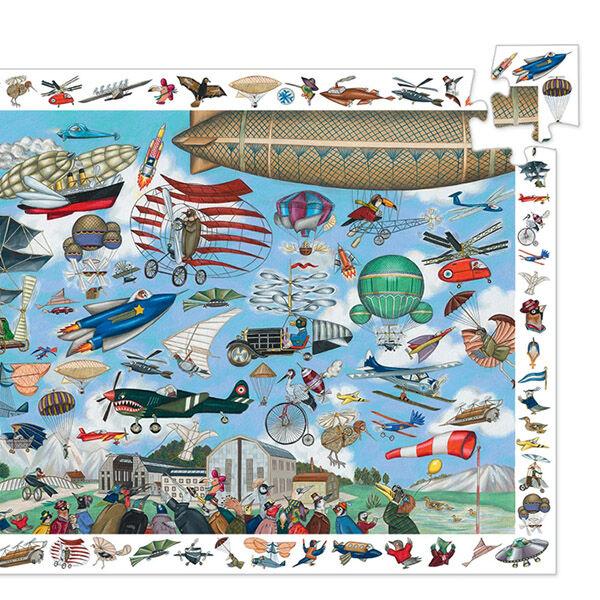 DJECO Megfigyelő puzzle (200 db) - Repülők