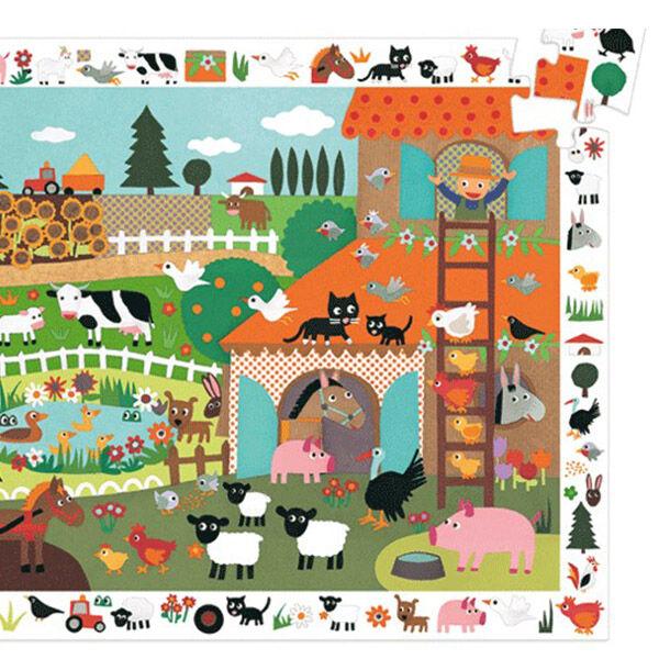 DJECO Megfigyelő puzzle (35 db) - Farmon