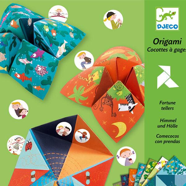 DJECO Origami -  Szerencsemondó sótartó (állatos)