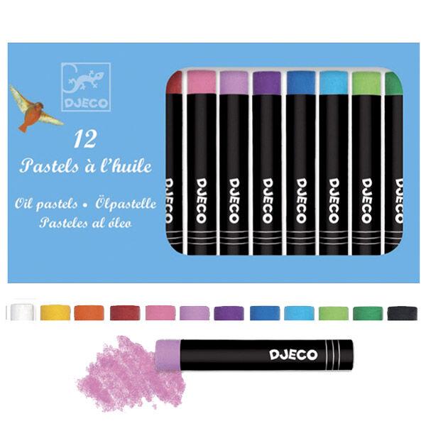 DJECO Olajpasztell készlet - klasszikus színek