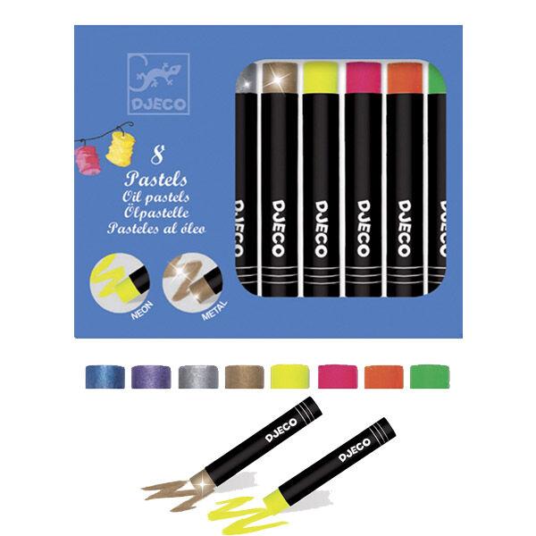 DJECO Olajpasztell készlet - neon színek