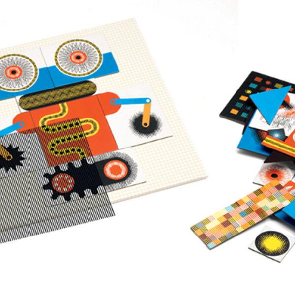 DJECO Kinoptik, optikai puzzle Robots