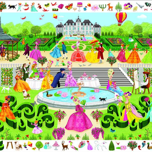 DJECO Garden party (megfigyelő puzzle / 100 db-os)