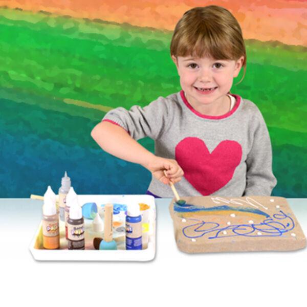 Sand Paint alkotó tálca