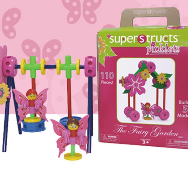 Superstructs™ Pinklets Fairy Garden - Tündérkert